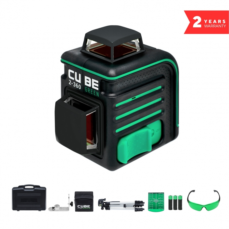 Laser Level ADA CUBE 2-360 Green