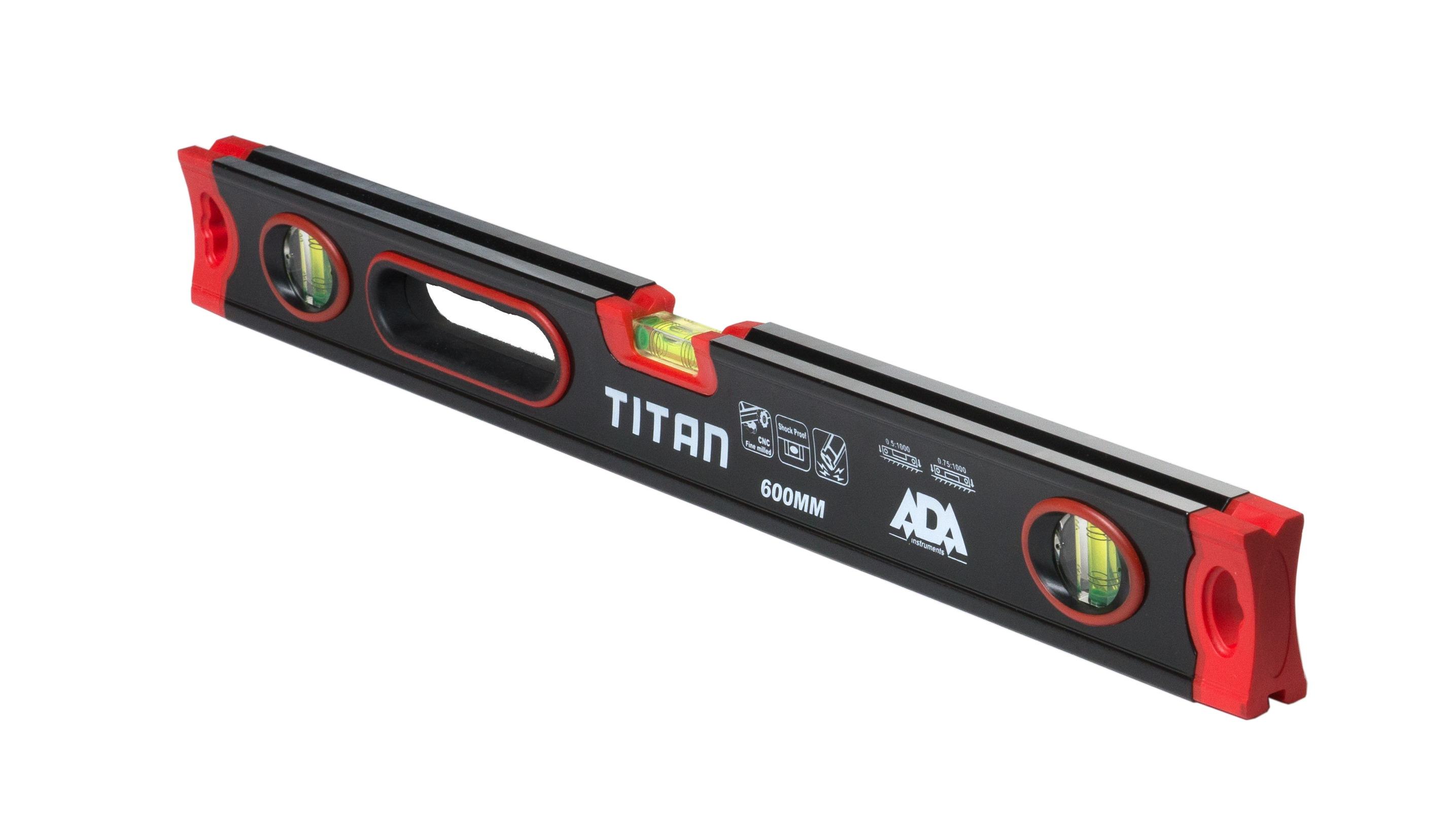 Противоударный строительный уровень ADA TITAN 600