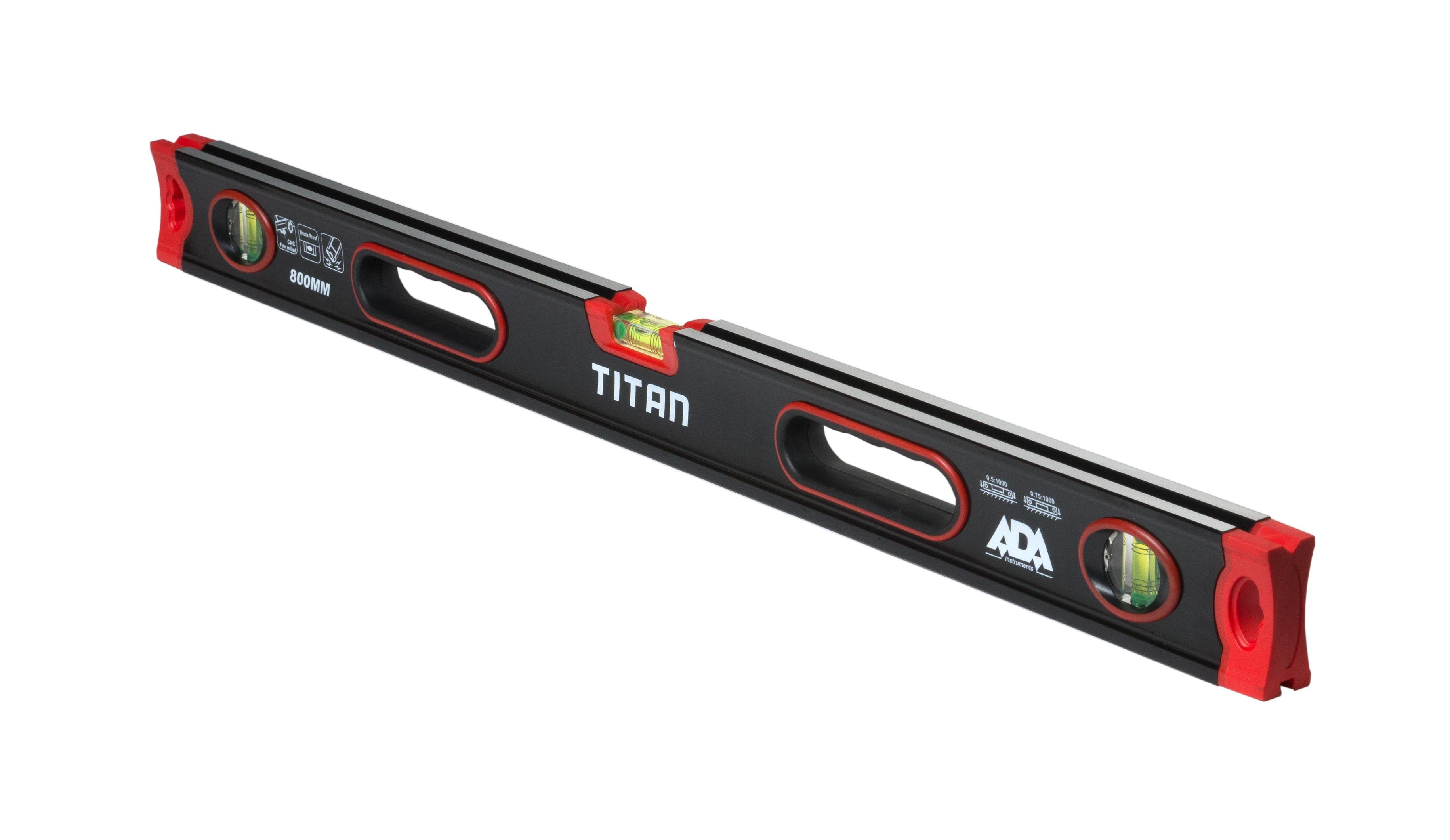Противоударный строительный уровень ADA TITAN 800