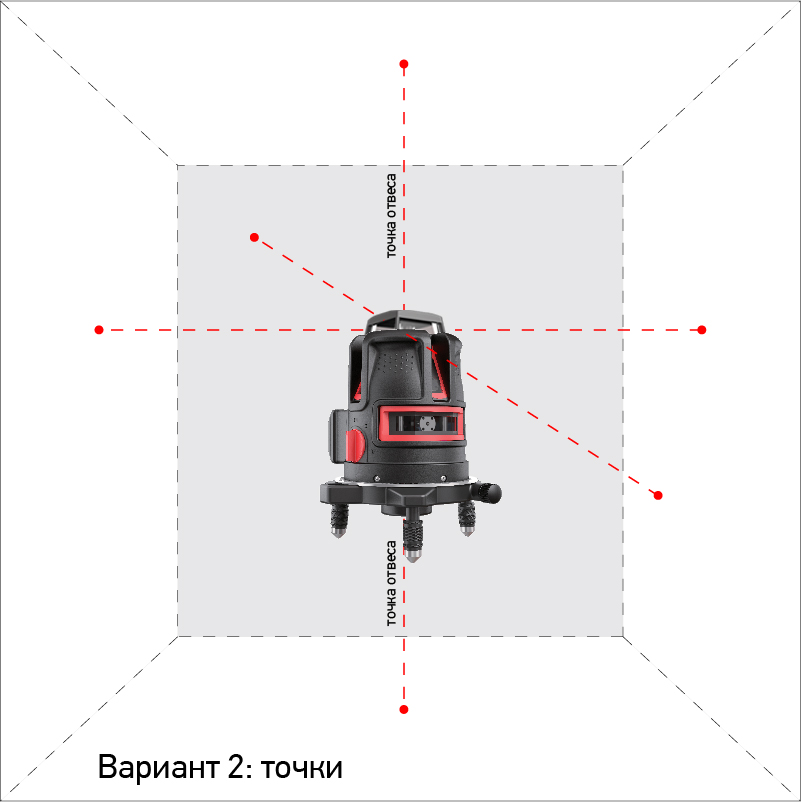 Нивелир ADA Instruments Combine 4V+6Dots - фото 4