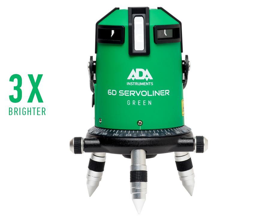 Line laser level ADA 6D SERVOLINER GREEN