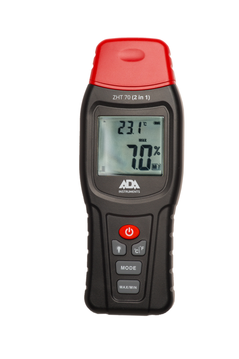 Moisture meter of wood and building materials / ambient temperature meter ADA ZHT 70 (2 in 1)