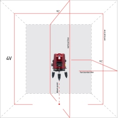 Line laser level ADA 3D LINER  4V (Picture 3)