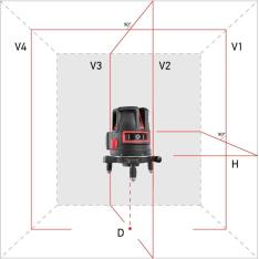 Laser level ADA PROLiner 4V Set (Picture 1)
